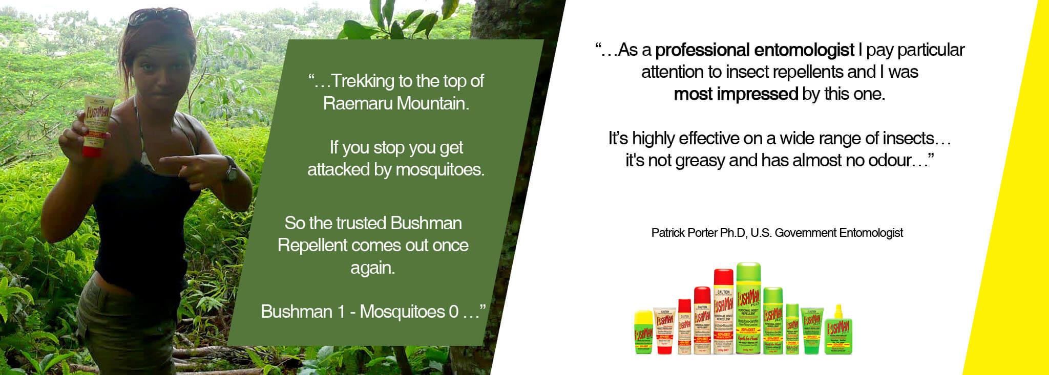 Professional entomologist says they're most impressed with Bushmans - review
