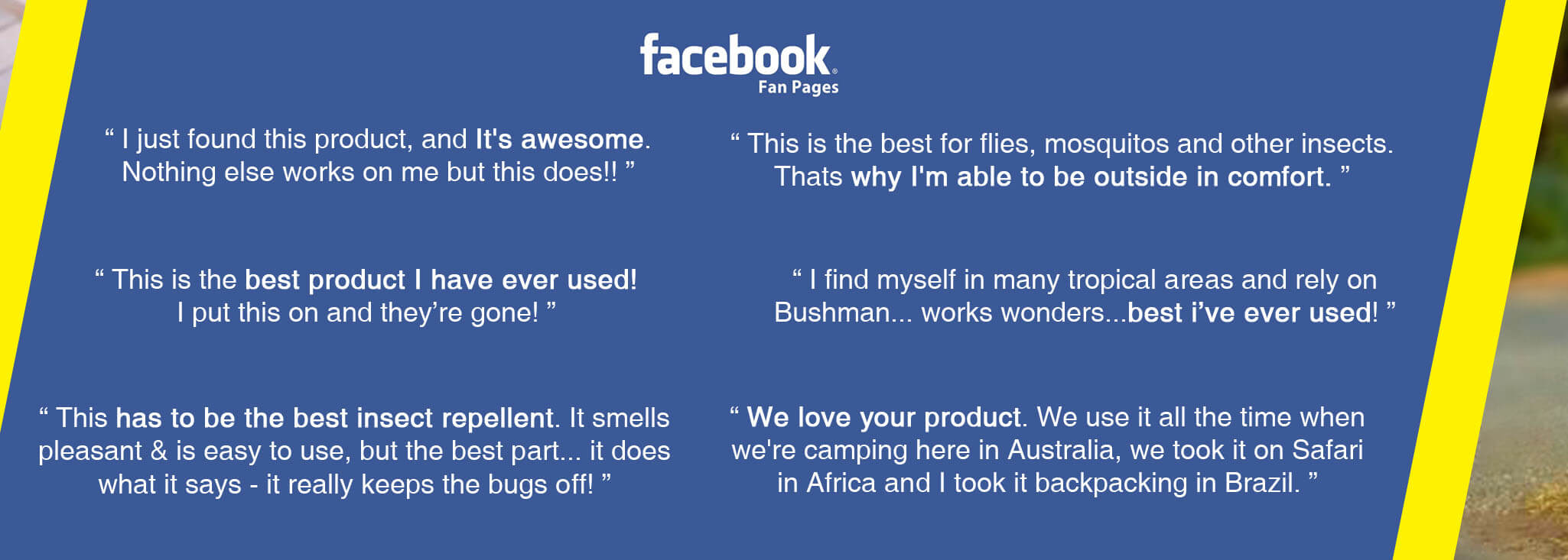 Facebook: It is awesome. Best insect repellent - review