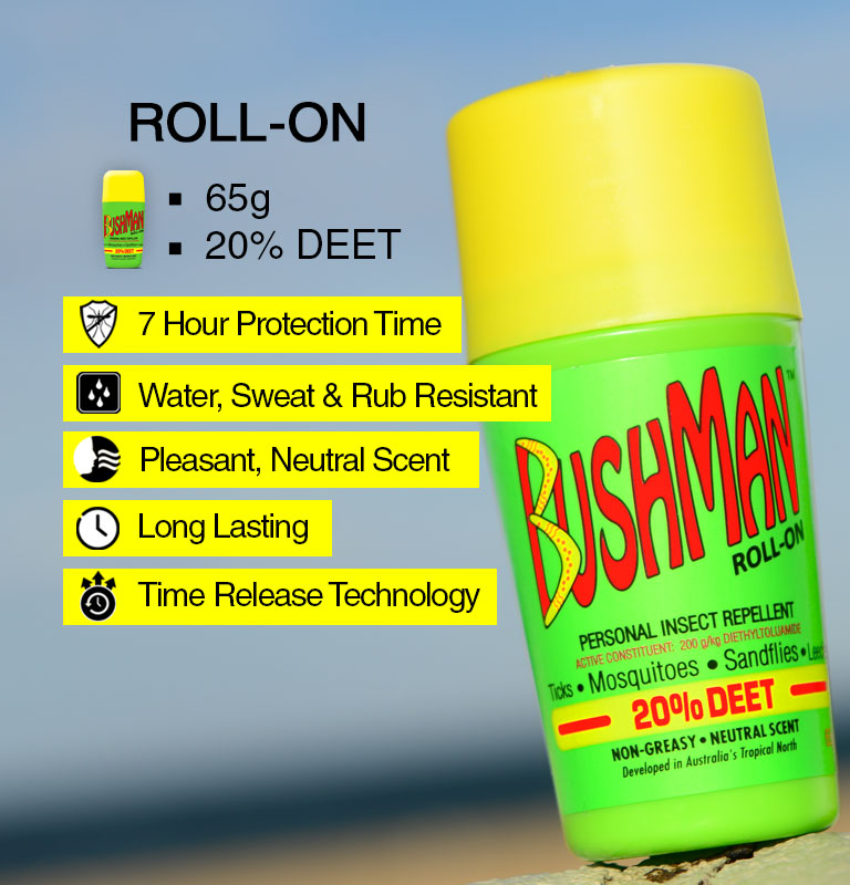 Bushman roll-on information