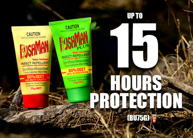 Bushman has up to 15 hour protection