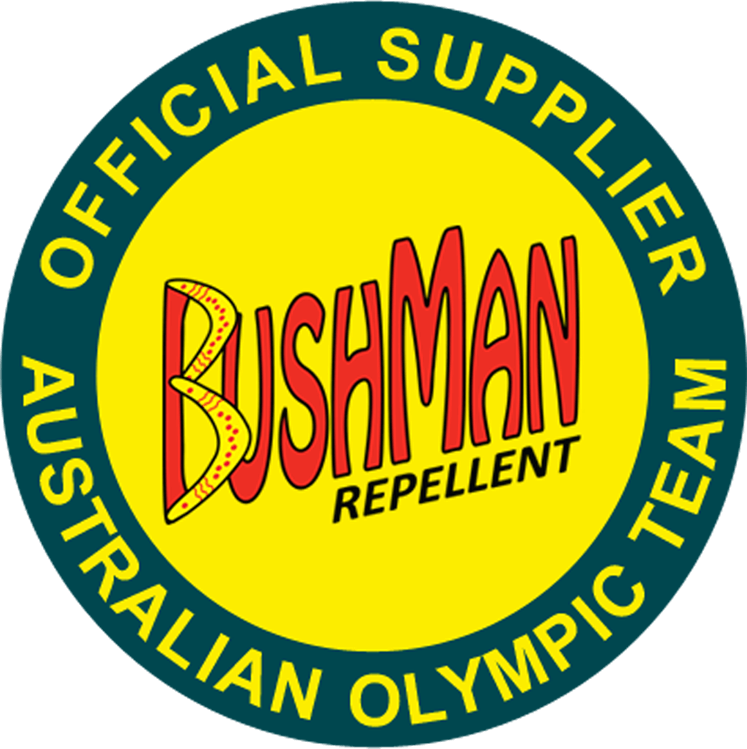 Bushman repellent logo - Official Supplier of the Australian Olympic Team