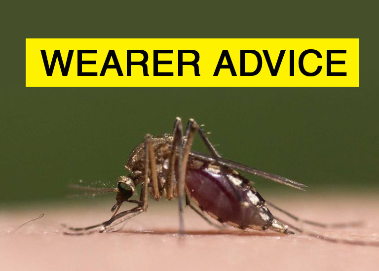 mosquito banner for wearer advice